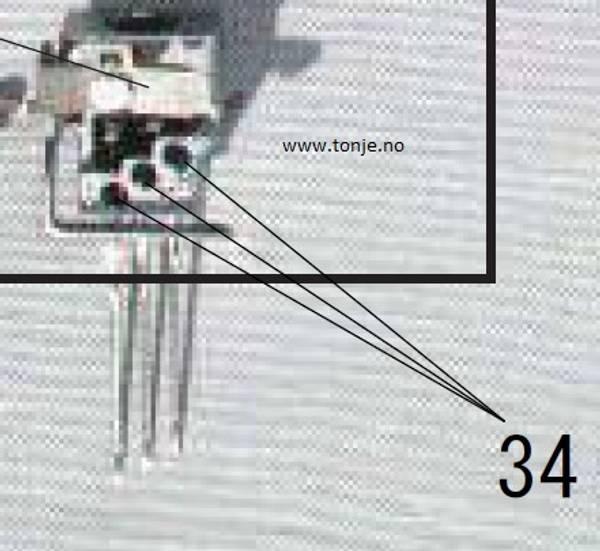 Bilde av (21G3) Festeskrue til nålen til Janome 900CP, 900CPX, 1000CP, 10