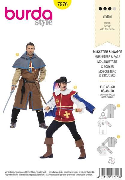 Bilde av Burda Mønster B7976 Musketeer & Page Sewing