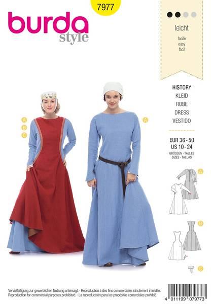 Bilde av Burda Mønster B7977 History Dress Sewing