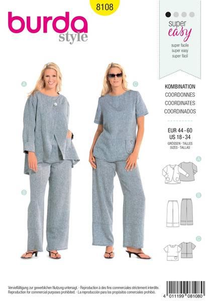 Bilde av Burda Mønster B8108 Coordinates Sewing