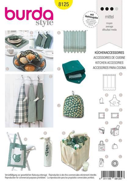 Bilde av Burda Mønster B8125 Kitchen Accessories Sewing