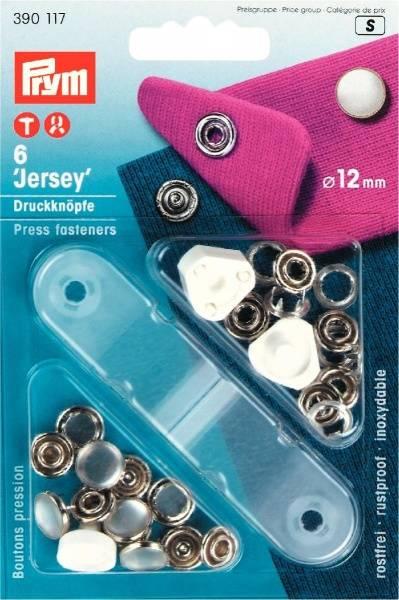 Bilde av Prym - Jersey Trykknapper, 12mm, Kappe, Perlemor, 390117