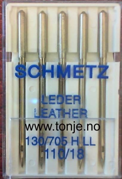 Bilde av (23E32) Nåler LÆR/SKINN H LL 110 5-pakk SCHMETZ