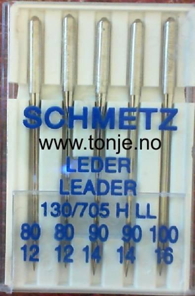 Bilde av (23E34) Nåler LÆR/SKINN H LL 2x80, 2x90, 1x100 5-pakk SCHMET