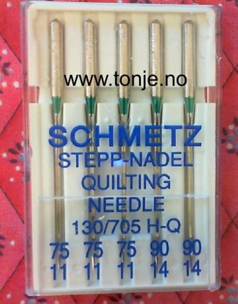 Bilde av (23E37) Nåler Quilt H-Q 3x75, 2x90 5-pakk SCHMETZ (H9)