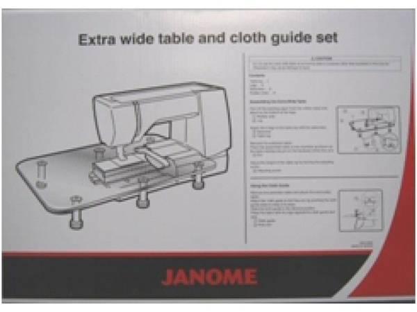 Bilde av (20C) Plexiglassbord m/sy-guide til Janome MC8200 / MC8900 /MC77