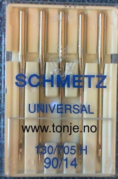 Bilde av (23E4) Nåler Universal 90/14 130/705H 5stk SCHMETZ (2J2)