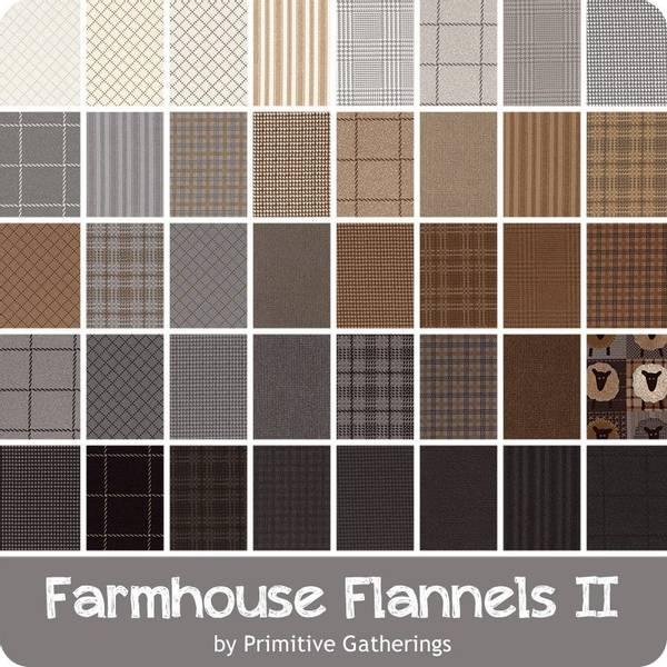Bilde av Moda Fabrics Farmhouse Flannels II Layer Cake, 49100LCF