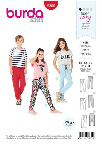 Bilde av Burda Mønster   9300 Children's Jogging Pants – Elastic Waist –
