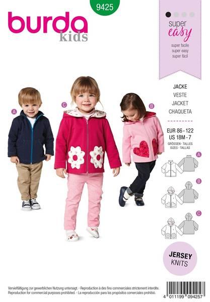 Bilde av Burda Mønster B9425 Toddlers Sewing