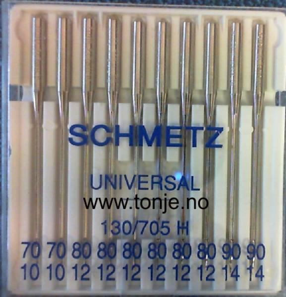 Bilde av (23E14) Nåler Universal 2x70, 6x80, 2x90 130/705H 10stk SCHM