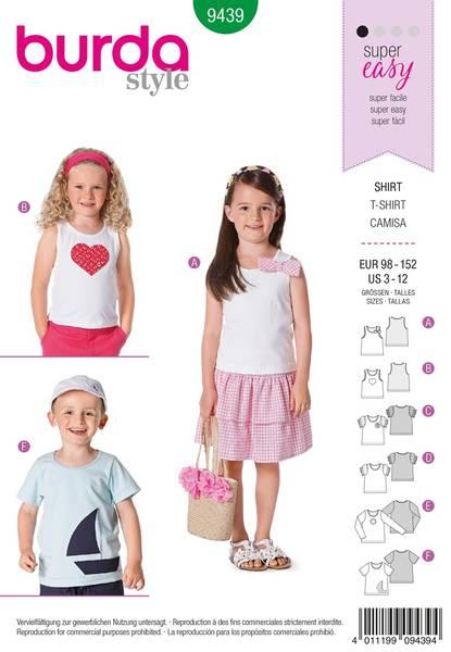 Bilde av Burda Mønster B9439 Burda Mønster Children Sewing