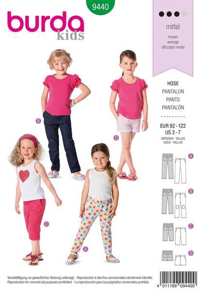 Bilde av Burda Mønster B9440 Burda Mønster Toddlers Sewing