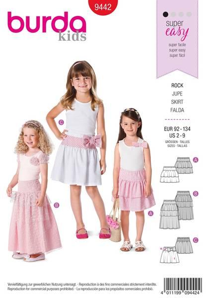 Bilde av Burda Mønster B9442 Burda Mønster Children Sewing