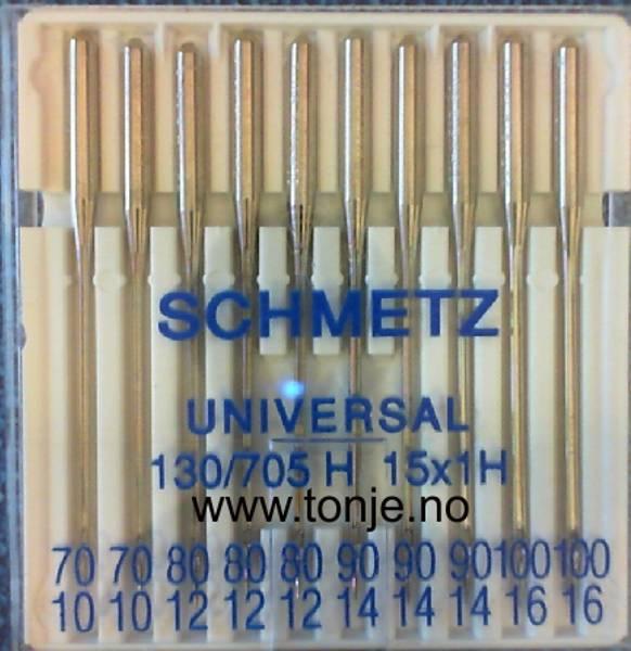Bilde av (23E15) Nåler Universal 2x70, 3x80, 3x90 2x100 130/705H10stk (F4