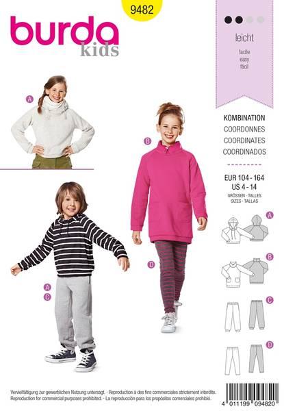 Bilde av Burda Mønster Kids B9482 Coordinates Sewing