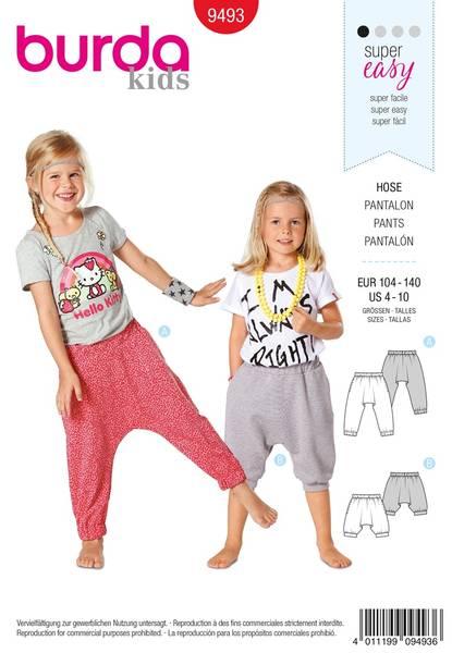 Bilde av Burda Mønster B9493 Trousers Sewing