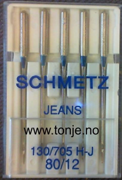 Bilde av (23E16) Nåler Jeans H-J 80 130/705H 5stk SCHMETZ