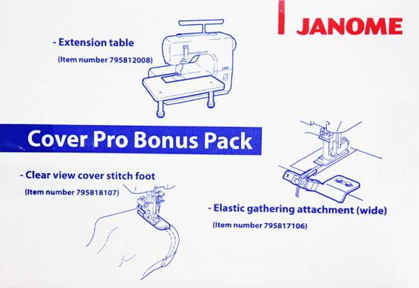 Bilde av (20B2) Janome Cover Pro Bonus Pack 1000cpx/2000CPX/Elna 444