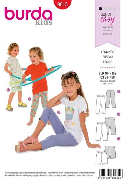 Bilde av Burda Mønster B9615 Leggings Sewing