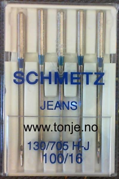 Bilde av (23E18) Nåler Jeans H-J 100 130/705H 5stk SCHMETZ