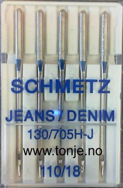 Bilde av (23E19) Nåler Jeans H-J 110 130/705H 5stk SCHMETZ