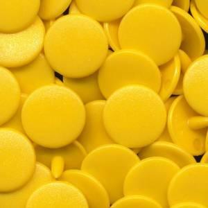 Bilde av Solgul Blank KAM plasttrykknapp 25 stk (B10)