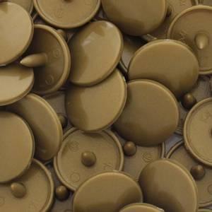 Bilde av Gull Blank KAM plasttrykknapp 25 stk (B11)
