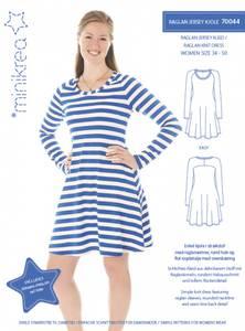 Bilde av Raglan Jersey kjole dame (Minikrea 70044)