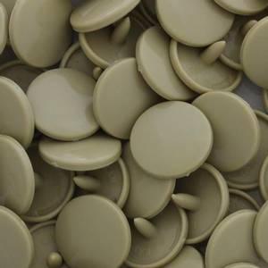 Bilde av Taupe Blank KAM plasttrykknapp 25 stk (B25)