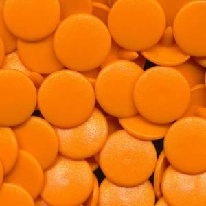 Bilde av Appelsinorange Matt KAM plasttrykknapp 25 stk (M40)