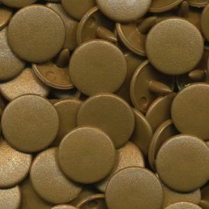 Bilde av Gull Matt KAM plasttrykknapp 25 stk (M11)
