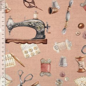 Bilde av Vintage Sewing Rose - Kanvas