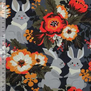 Bilde av Retro Rabbit Flower - GOTS Jersey
