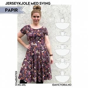 Bilde av Jerseykjole med sving (XS-4XL) - Dame - Ida Victoria