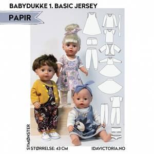 Bilde av Sy til Babydukke - Basic Jersey - Ida Victoria