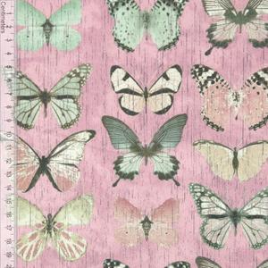 Bilde av Vintage Butterfly Rosa - Kanvas