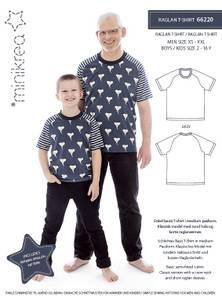 Bilde av Raglan T-Skjorte barn og herre (Minikrea 66220)