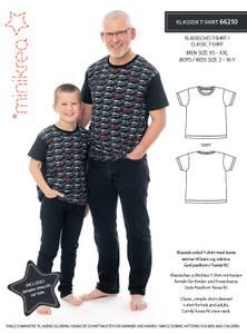 Bilde av Klassisk T-skjorte barn og herre (Minikrea 66210)