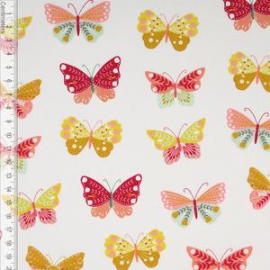 Bilde av Butterflies Hvit - Fast Bomull