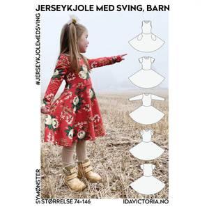 Bilde av Jerseykjole med sving - Barn - Ida Victoria