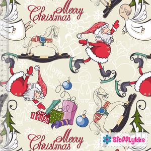 Bilde av Vintage Christmas Santa - GOTS Jersey