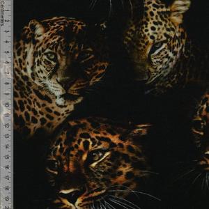 Bilde av Leopard Sort - Viskosejersey