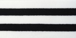 Bilde av Hvit/Sort Stripe - Strikk 40 mm
