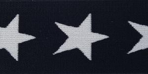 Bilde av Marine/Hvit Stjerne - Strikk 40 mm
