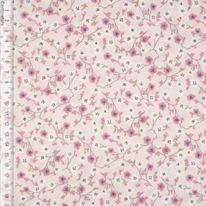 Bilde av Blomst Rosa/Glitter - Fast Bomull