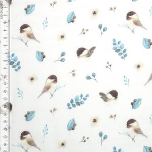 Bilde av Birds and Leaves - GOTS Musselin