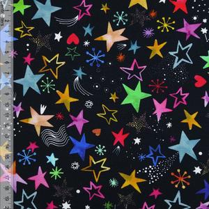 Bilde av Colourful Stars Sort - Jersey