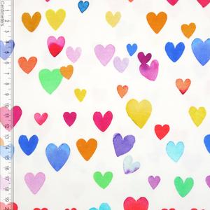 Bilde av Colourful Hearts Hvit - Jersey