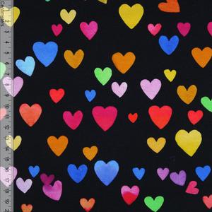 Bilde av Colourful Hearts Sort - Jersey